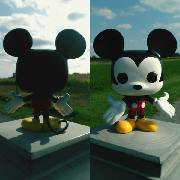 Freshness Temptation Sky Mickey Mouse Disney Standing Imagination Funkopopvinyl Funkofunatic Popfunko Eyem Best Shots Amazing Vibrant Color Multi Colored Mickeymouse Mickey ❤ Creativity Toy Still Life In Front Of Colorful Childhood Front View Grass Sunshine