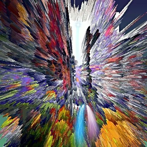 lines .colors .sides .lights .mix and separate .together or alone .moving from.one place covering the other side making the place much different more lovely and such a great art part of the multicolor new face.creating an new life much special for the old gray or colorless lifeless place . Art Yourself Abstract Art Edition My Art Works