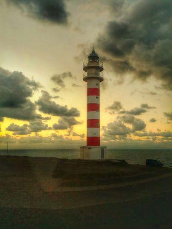 Faro de Gáldar Sunset Clouds #lighthouse