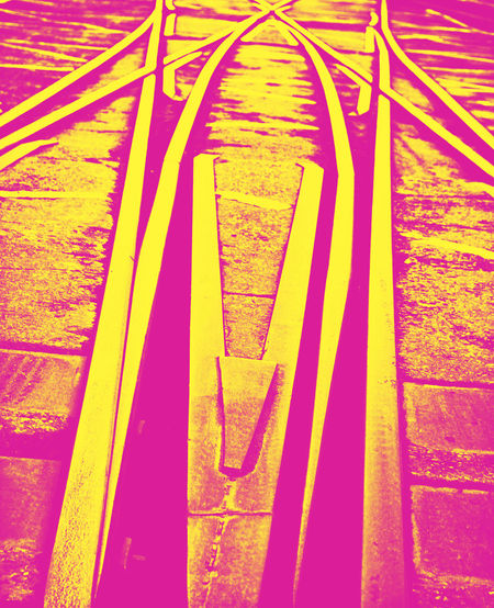points Abstract Arts Culture And Entertainment Auto Post Production Filter Change Direction Communication Design Duotone Glowing Ideas Information Infrastructure No People Number Paper Pattern Points Rail Railroad Track Railway Track Single Object