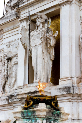 Atena Rome Italy EyeEm Selects EyeEm Best Shots MR7 Photography Canon Eos77D Sculpture Statue Water History Bas Relief Human Representation Art And Craft Architecture Close-up Building Exterior Civilization Ancient Civilization Cathedral Ancient Rome
