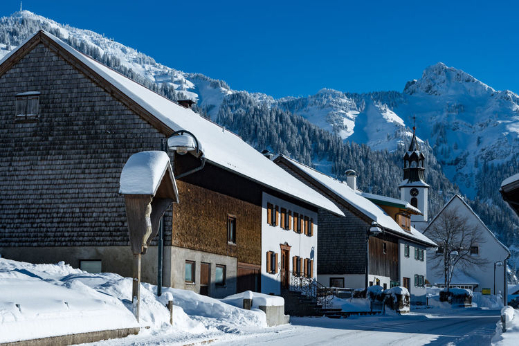 Architecture Austrian Alps Cold Temperature Day House Mountain No People Outdoors Snow Snowcapped Mountain Snowing Sport Winter