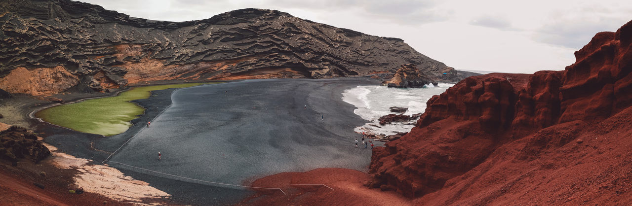 Lanzarote Panorama Panoramic SPAIN Travel Beauty In Nature Day Geology Island Landscape Lava Mountain Nature No People Outdoors Physical Geography Rock - Object Scenics Sky Travel Destinations Volcanic  Volcanic Crater Volcanic Landscape Volcano