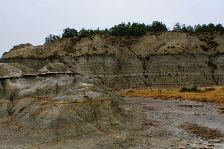 Sedimentary Layers, Theodore Roosevelt National Park Theodore Roosevelt National Park North Dakota Badlands Geology