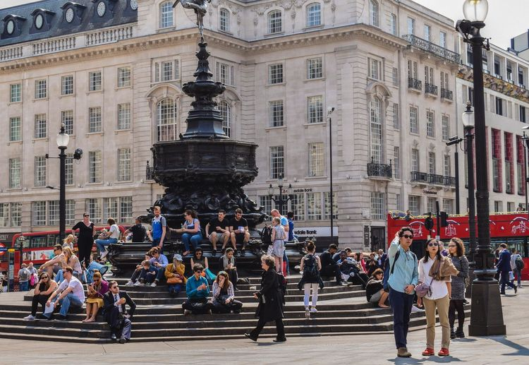 London Adult Architecture Building Building Exterior Built Structure City City Life Crowd Day Group Of People Large Group Of People Leisure Activity Lifestyles Men Outdoors Piccadillycircus Real People Street Walking Women