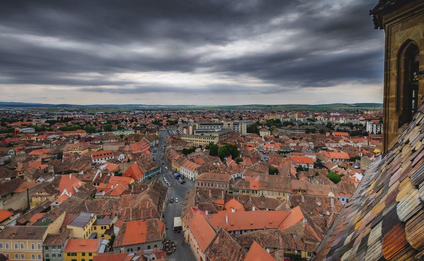 Old town Sibiu Sibiu, Romania Architecture Cloud - Sky Building Exterior City Built Structure Cityscape Sky Crowd Building Crowded Residential District Travel Destinations Town Community Outdoors High Angle View TOWNSCAPE