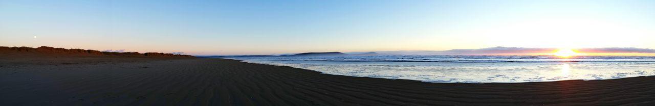 sun and moon ☀🌙Sunandmoon Sunset Beach Sunsetbeach Pembrey Sun Moon