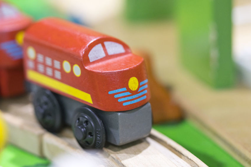 Red train Wooden toy - Toys for kids Play set Educational toys for preschool indoor playground (selective focus) Toy Car Close-up Wood - Material Transportation Toy Car Selective Focus Red People Indoors  Focus On Foreground Motor Vehicle Green Color Mode Of Transportation Fun Still Life Wooden Toy Wooden Toy Block Wooden Toy Train Train - Vehicle
