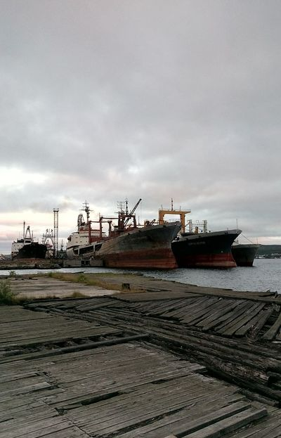 Sea Ship Генрих Гасанов in the Gulf of Murmansk • Sea View Landscape Traveling Outdoors Ships Shipyard
