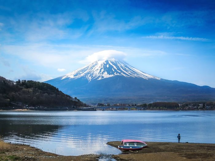 Scenic View Of Lake Against Mount Fuji