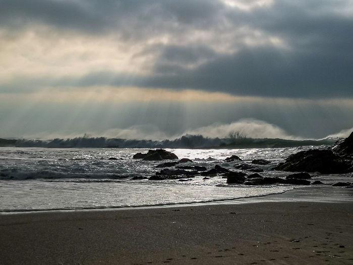 spray of the waves Seaspray Cornwall, UK. Huaweiphotography Landscape Water Sea Beach Wave Sand Sky Horizon Over Water Cloud - Sky Landscape Tide Seascape Coastline Ocean Sandy Beach My Best Photo