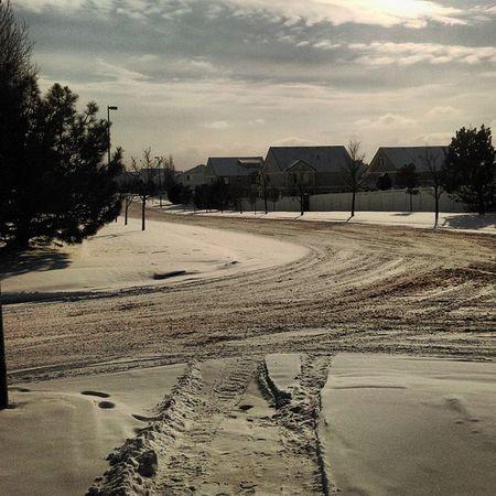 Today was below zero Cold Colorado Freezing Belowzero Negative Valleys Snow 2K14 December StreetCorner White Slush Tracks FootPrints