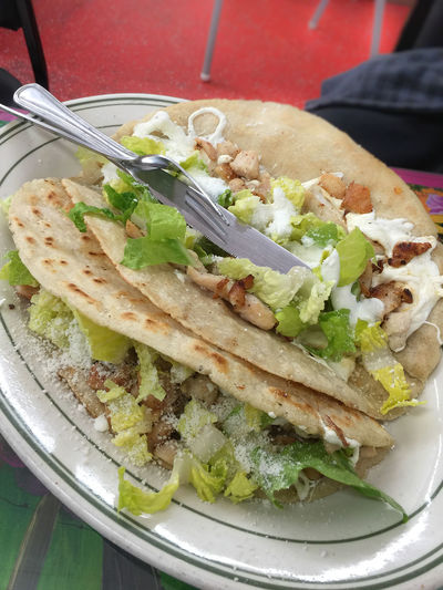 Authentic Close-up Day Fast Food Food Food And Drink Freshness Healthy Eating Indoors  Mexican Food No People Plate Ready-to-eat Stuffed Tortilla - Flatbread