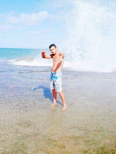 Natal Rn Water Beach Vacations Splashing Summer Fun Motion Sea Leisure Activity One Person People Enjoyment Spraying Bikini Day Refreshment Outdoors Full Length Children Only Shirtless First Eyeem Photo