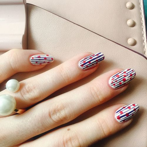 Cropped Image Of Woman With Nail Art