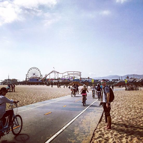 Muscle beach. Sunny day EyeEm Gallery Large Group Of People Leisure Activity Real People Day Men Vacations Beach Ferris Wheel