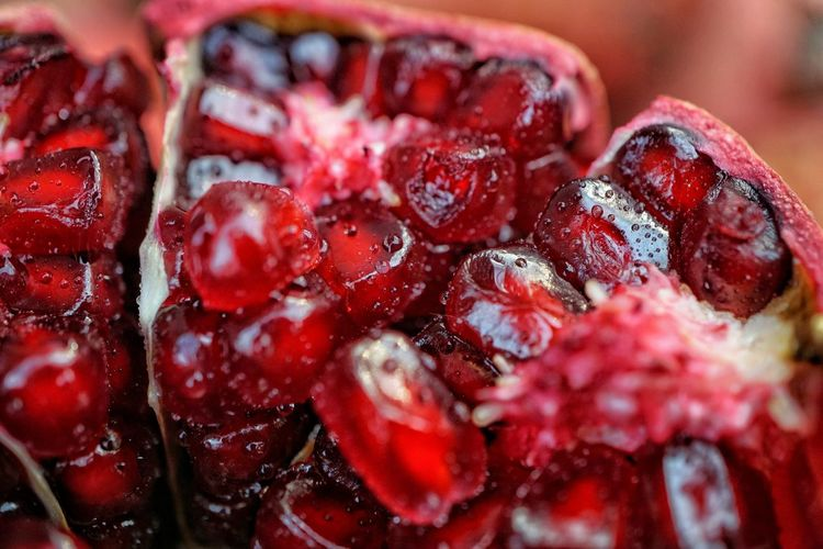 Red Close-up Freshness Healthy Eating Fruit Food Pomegranate