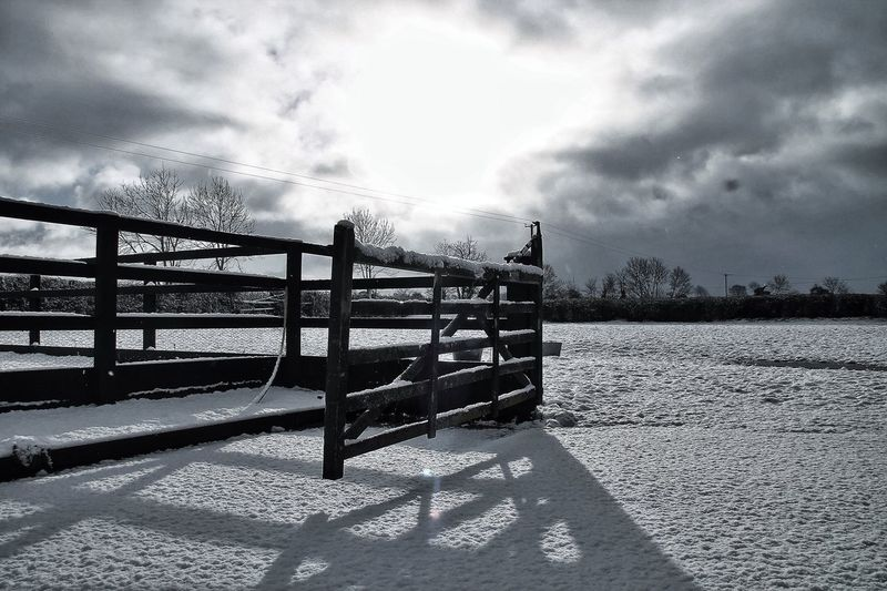 March, in like a lion, today. Snow covered paddock. In The Landscape Tadaa Community EyeEm Nature Lover Darkness And Light