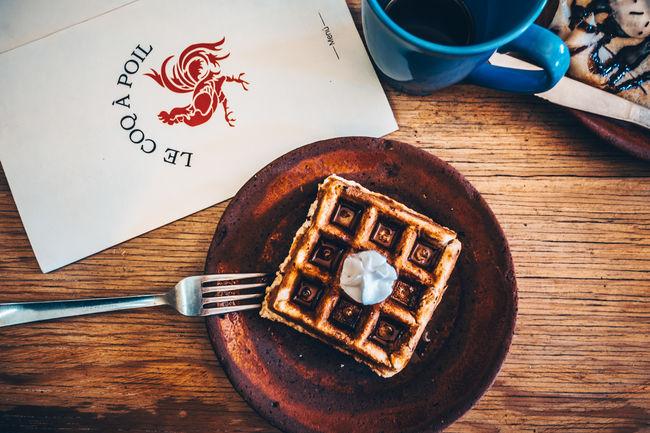 Breakfast Coffe Food Food Porn Foodie Plated Food Table Waffle