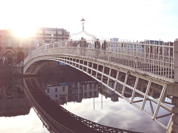 Ha'Penny Bridge in the morning light liffey river ha'penny Bridge sun Sunlight Morning Ireland Dublin bridge day connection built structure building exterior travel destinations Cityscape first eyeem photo EyeEmNewHere Liffey River Ha'penny Bridge Sun Sunlight Morning Ireland Dublin Bridge Day Connection Built Structure Building Exterior Travel Destinations Cityscape