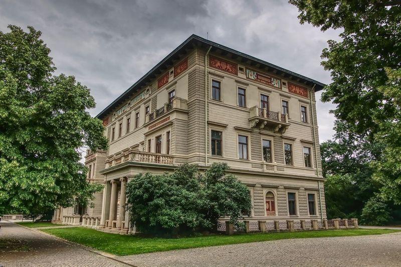 Gröbova vila House HDR Grebovka Prague Praha Urban City Architecture Plant Sky Tree No People Day