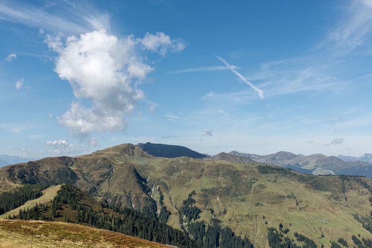 Berge Himmel Landschaft Pinzgau Salzburger Land Schmittenhöhe Wolken Wandern Zell Am See Österreich