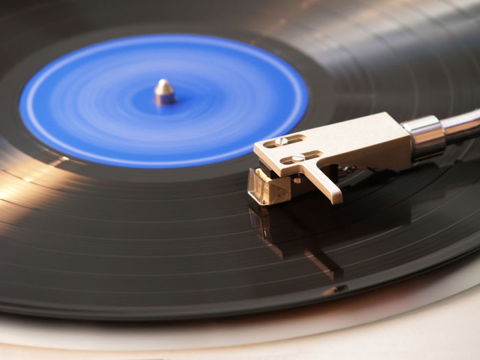 Cropped Image Of Turntable