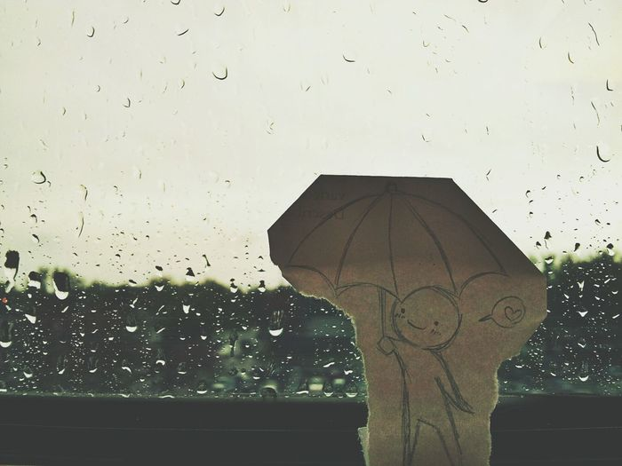 Bored at the library while it's pouring outside Rain