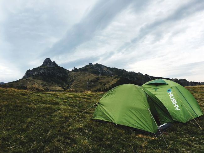 Second Acts Tent Sky Landscape Green Color Camping Nature Grass Tranquil Scene Day Tranquility Scenics Mountain No People Field Beauty In Nature Cloud - Sky Vacations Shelter Outdoors Be. Ready.