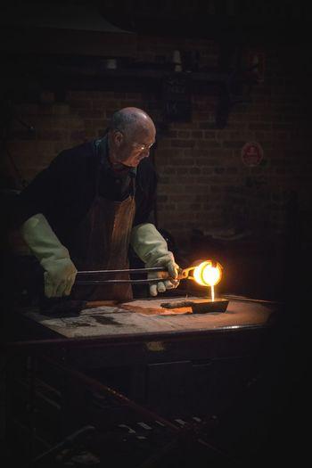 Gold smelting in Ballarat Victoria Ballarat  Australia Sovereign Hill