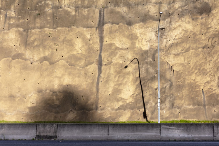 Light Built Structure No People Outdoors Shadow Streetlight Sunlight Textured  Wall Wall - Building Feature