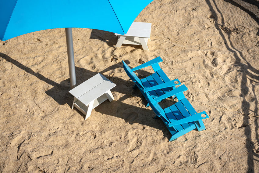 Partner Collection The EyeEm Collection Beach Photography Chair Tranquility Absence Beach Blue Day High Angle View Holiday Land Lounge Chair Nature No People Outdoors Sand Sea Shadow Sky Summer Sunlight Travel Trip Umbrella Vacations Water Land Vacations Trip