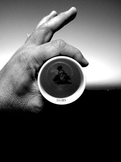 ceramic Black And White Hand Ceramic Art Ceramic Painting Human Hand Human Finger Close-up Tea Cup