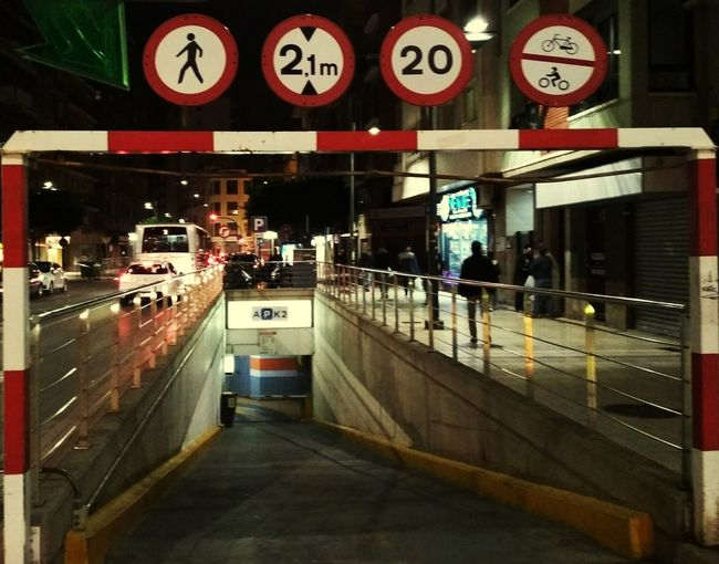 Parking Senyals Signs Street Parking Garatge Nit Night City