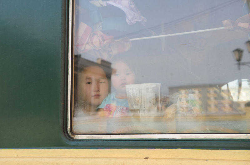 Mongolia Kids In Train Trans Siberian Feel The Journey Fine Art Photography On The Way