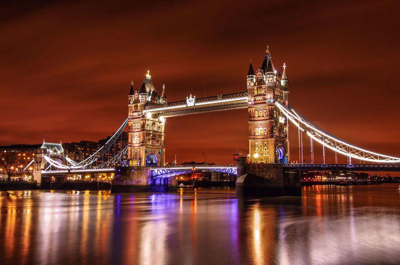 London Tower Bridge London Tower Bridge Travel Long Exposure Night Photography England