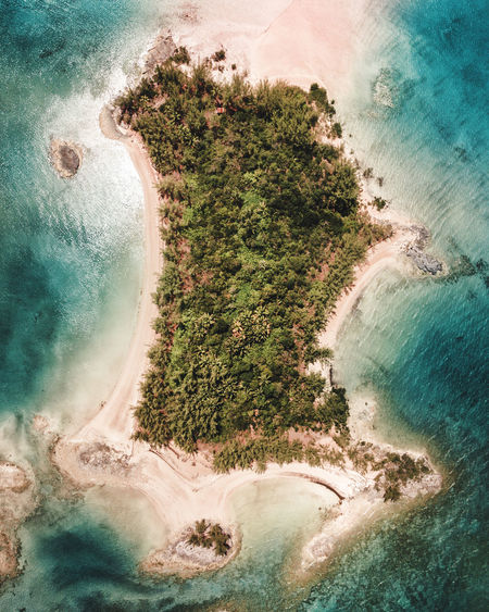 Island Life Water Sea Nature Aerial View Plant Tree Land Beauty In Nature Day High Angle View No People Scenics - Nature Beach Outdoors Tranquil Scene Tranquility Environment Coastline Cloud - Sky Power In Nature