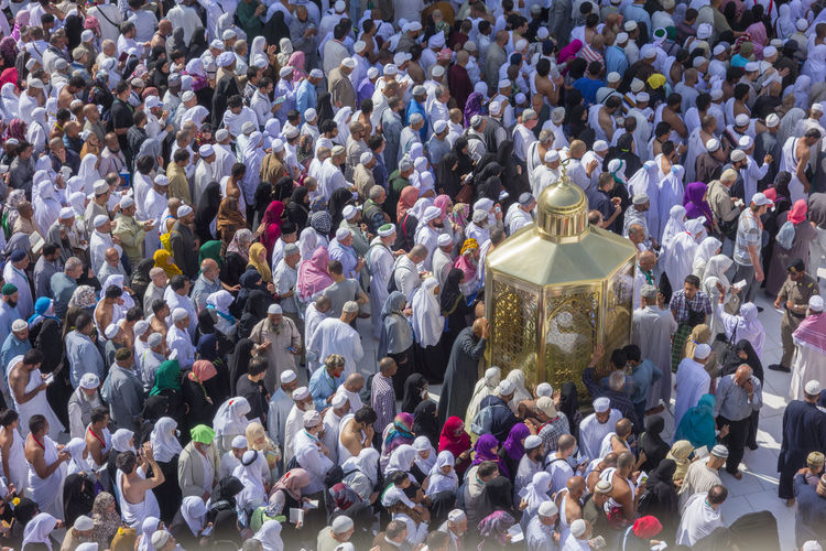 High Angle View Of People Around Dome