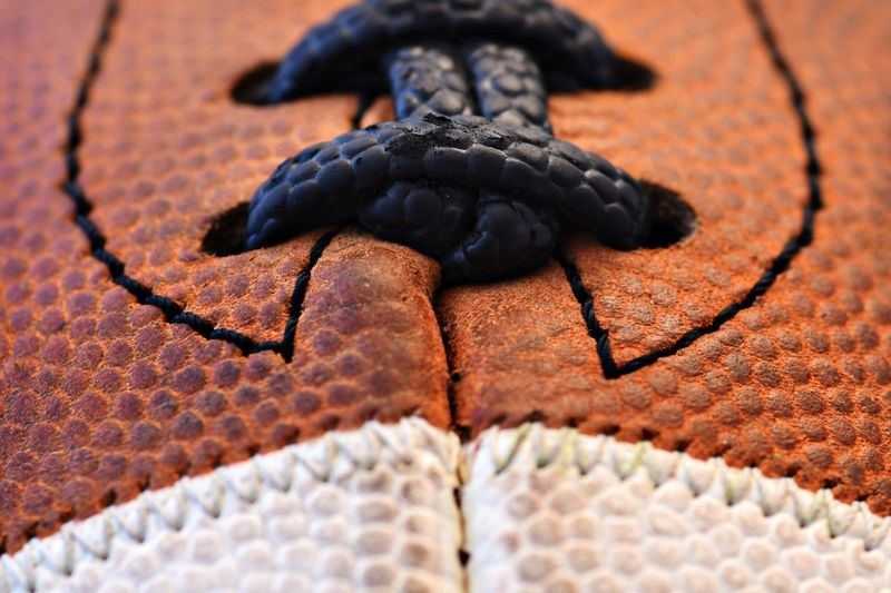Leather Game Laces Pigskin  Macro Photography Sports NFL Football NFL Football Close-up No People Textured