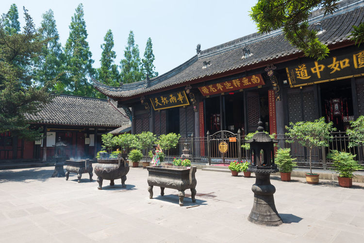 wuhou temple in chengdu Chengdu Sichuan Wuhou Architecture Belief Building Building Exterior Built Structure Courtyard  Day Nature No People Outdoors Place Of Worship Plant Religion Roof Shrine Spirituality Travel Destinations Tree Wuhoutemple