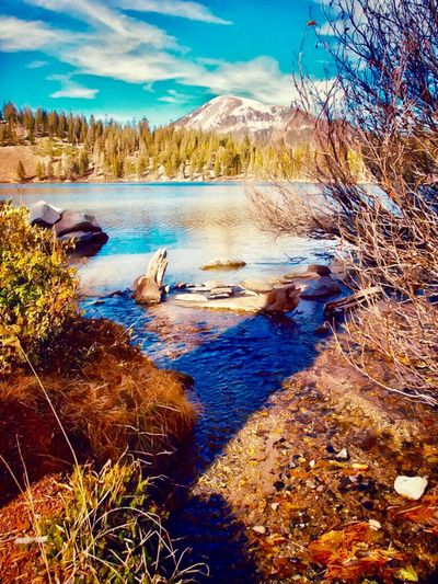 Eastern Sierras Mountains Mammoth Lakes, CA Lake George Mammoth Mountain Water Beauty In Nature Scenics - Nature Tranquil Scene Tranquility Nature Plant Mountain Lake