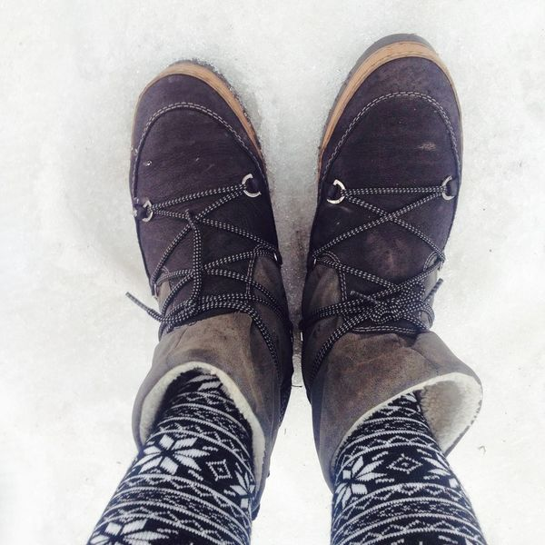 Boots in the Snow Winter Holidays Winter Boots Skiing Socks