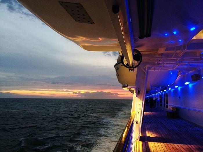 sailing Sailing Sunset EyeEm Best Shots The Week On EyeEm Cruise Ship Cruising