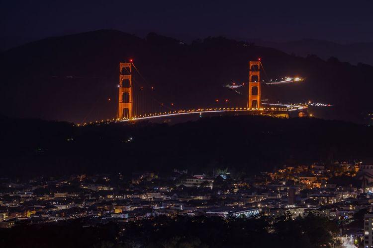 Golden Gate Bridge Long Exposure Built Structure Sky Architecture Nature Night No People Outdoors San Francisco California Dream