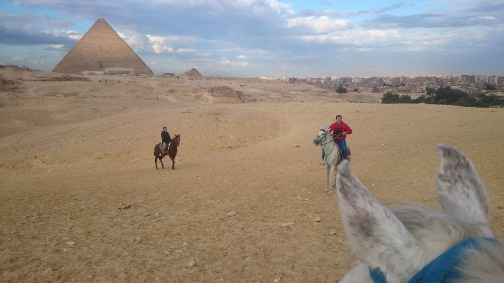 Pryamids Cairo Dessert Egypt Hourse Outdoors Pryamids Sand Sky Tomb