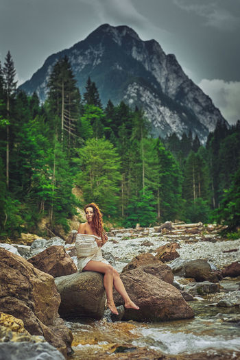 Only Women Mountain People Forest One Woman Only One Person Nature One Young Woman Only Outdoors Vacations Human Body Part Pinaceae Adventure Women Pine Tree Beauty In Nature Lifestyles Relaxation Beauty Nature Lago Del Predil Tree Landscape Park Cloud - Sky