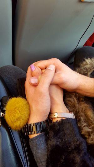 protect me Human Hand Young Women Women Men Close-up Nail Polish Friend Passenger Train Couple Train - Vehicle Pink Nail Polish Bracelet