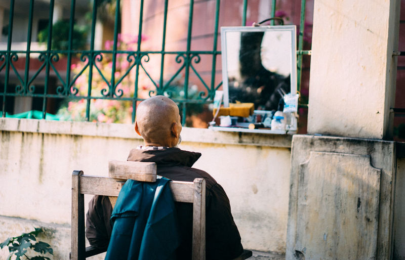 Morning in Hanoi city Architecture Building Exterior Built Structure Bussiness City Day Hairstyle Hard Working Mirrorselfie One Man Only One Person Outdoors People Real People Rear View Sonyalpha Sun Sunlight And Shadow