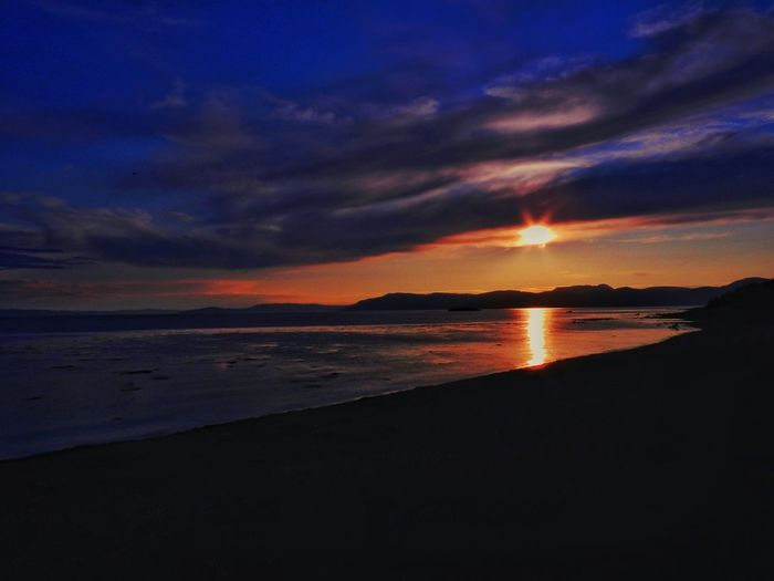 Norway Beach Beauty In Nature Cloud - Sky Dusk Horizon Horizon Over Water Idyllic Land Nature No People Orange Color Outdoors Scenics - Nature Sea Silhouette Sky Sunset Tranquil Scene Tranquility Water