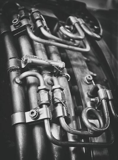 Black & White Black And White Blackandwhite Close-up Day Indoors  Machinery Motor No People Oil Plane Plumber
